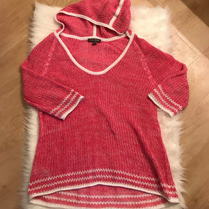 Tommy Bahama Loose Knit Hooded Sweater Swim Cover